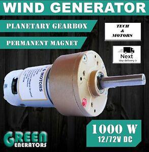 New Powerful Wind Turbine Power Generator 12v-72v 1000W