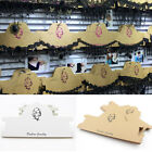Wholesale 10/50Pcs Paper Necklace Earring Display Hanging Packaging Card Jewelry