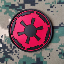 3D PVC IMPERIAL GALACTIC EMPIRE STAR WARS LOGO HOOKPATCH MILITRAY RUBBER BADGE