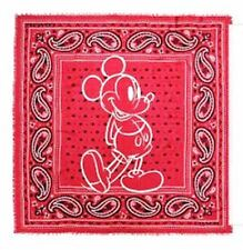 NWT Coach Disney Mickey Red Bandana Paisley Lightweight Scarf