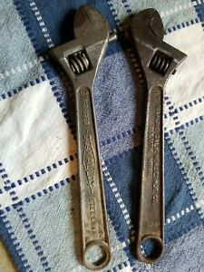 """2 Vintage 8"""" Crescent Wrenches Diamolloy"""