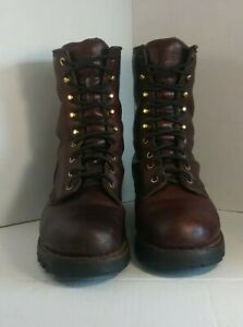 Chippewa 'Sportility' Size 12M Leather Steel Toe Logger Boot Redwood 73031