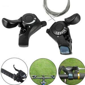 1 Pair SL-TX30 3/6/7/18/21 Speed MTB Mountain Bike Thumb Gear Shift Lever Set UK