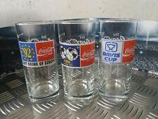 Coca Cola glazen glasses gläser verre pohâr 3 stuks