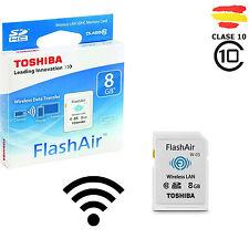 TARJETA MEMORIA 8GB TOSHIBA WIFI SD HC USB 8 GB ORIGINAL SDHC CAMARA FlashAir