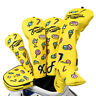 Golf Wood Headcover Set Clubs Cover Driver Hybrid Fairway Putter PU Leather