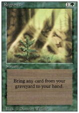 Regrowth ~ Damaged 3rd Edition Revised UltimateMTG Magic Green Card