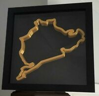 Nurburgring Circuit Replica Track Art In Frame Wall Mounted Race Track 3D Gold