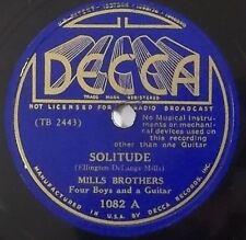 MILLS BROTHERS Solitude, London Rhythm DECCA 78 RPM 1082 sunburst