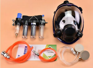 4 in1 Painting Safety Supplied Air Fed Respirator System For 6800 Full Face Mask