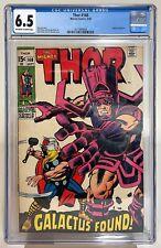 THOR #168 CGC 6.5  OW/White Pages - Origin Galactus! - Marvel 1969 - Silver Age!