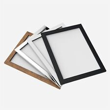 Modern Style Flat Wood Finish Photo Picture Poster Frame Black A4 Certificate