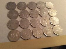 New listing Job Lot of 20 Olympic 50p coins Circulated, Football,Triathlon & Wrestling