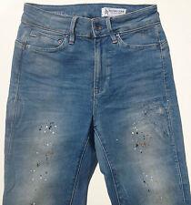 NEW RRP $349 Womens G-Star Raw 'MIDGE ZIP ULTRA HIGH SUPER SKINNY WMN' Jeans W25