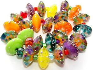 "Sistersbeads ""H-Day at the Beach"" Handmade Lampwork Beads"