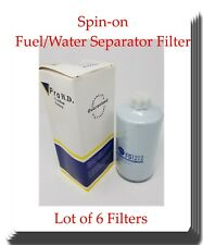 6 x FS1212 V-PRO Fuel/Water Separator Spin-on W/Drain Fits:Cat Ford Freightliner