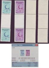 variety EUROPA CEPT 1966 TURKEY RARE GUTTER PAIR MNH perfect valued €1.418