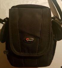 LowePro Black Padded Camera Bag w/ Strap 4 Pockets Belt Loop Edit 100