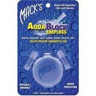 Mack's AquaBlock EarPlug Clear Swimming Adult Aqua Block Ear plug Silicone 1131