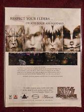 2000 Print Ad KISS Psycho Circus Videogame Sega Dreamcast