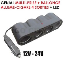 CAMPING RAID RANDO... SUPER PRATIQUE MULTI-PRISE ALLUME CIGARE 4 SORTIES + LED