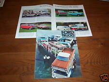 1969 FORD PICKUP TRUCK, ECONOLINE VAN, BRONCO, RANCHERO, BIG RIGS Etc. BROCHURE