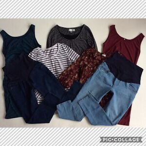 MATERNITY ~ WOMEN'S SIZE LARGE ~ HUGE CLOTHING LOT JEANS DRESSES TOPS BLOUSES