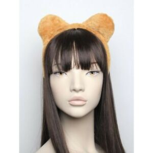 Brown fluffyTEDDY BEAR  ears MEN BOYS PARTY FANCY DRESS HEADBAND ACCESSORY