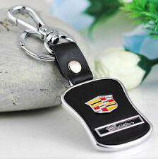Auto Car emblem keychain key chain holder keyfob leather for Cadillac SRX SLS