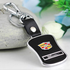 Car Key Ring Chain Keychain Keyring leather Metal  for Cadillac SRX SLS XTS