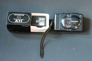 Olympus XA 1 35mm camera + A11 flashgun