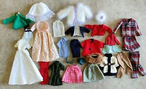 Vintage Barbie Clone Doll Clothes Lot Skirts Pants Coat Clothing
