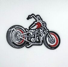 Motorcycle - Chopper Style Harley Applique Patch (Iron on) 178