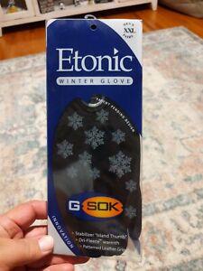 New Etonic Golf- Winter Gloves- Black *Extra Extra Large XXL*
