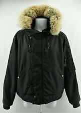 Polo by RALPH LAUREN Mens Padded Jacket Coyote Fur Dyed Sheep Skin Fur Size L