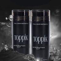 2 Pcs Toppik Hair Building Fibers - Black Dark Brown Medium Brown Light Brown