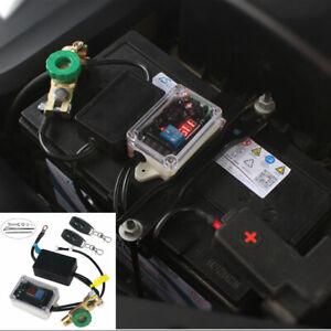 12V Anti-theft Car Battery Power Supply Master Kill Switch Wireless w/ Voltmeter