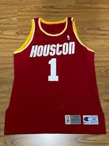 SCOTT BROOKS Champion Authentic Game worn NBA Jersey Vintage Rockets RARE