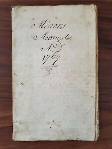 1767 Antique Accounting Book, Work, Rent, Items, Continental Loan Office, etc