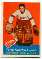 1957/58 Terry Sawchuk Card #35 Detroit Red Wings
