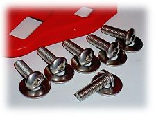 16mm Long Bicycle Shoe Cleat Attaching Bolt Set • Look Style • 6 Stainless Steel