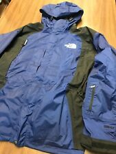 THE NORTH FACE VINTAGE MOUNTAIN GORE TEX JACKET Sz XXL Blue With Hood Double Zip