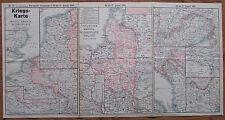 KRIEGSKARTE NR.67 Militärische Ereignisse 10. bis 17. Januar 1916 1. Weltkrieg