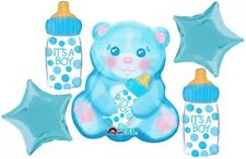 Teddy Bear Balloons Gender Reveal Boy Baby Shower Balloons Decoration Supplies