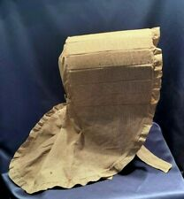 Antique C1860 Ladies Brown Checked Calico Handmade Bonnet With Provenance