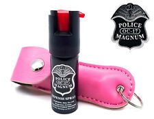 Police Magnum pepper spray .50oz pink keychain holster self defense security