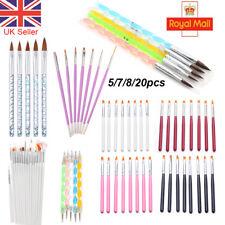 5/7/8/20pcs Nail Art Gel UV Painting Drawing Brushes Acrylic Brush Pen Set Tool