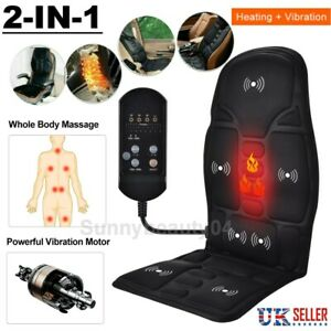Electric Heated Car Back & Shoulder Massager Chair Seat Remote Control Cushion