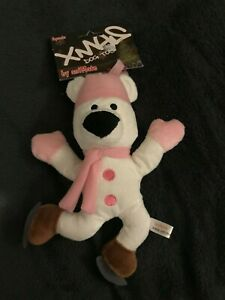 "AniMate Dog Toy , 10"" Pink Skating Polar Bear Squeaky  - NEW"