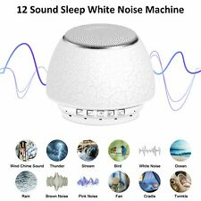 White Noise Deep Sleep Sound Rechargeable Machine Adult Baby Therapy 12 Sounds